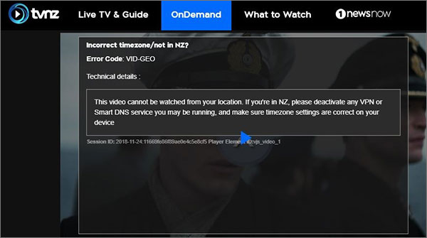 TVNZ OnDemand Geo Restriction