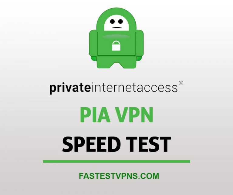 PIA VPN Speed Test