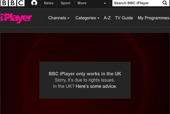 Fix BBC iPlayer Proxy Error