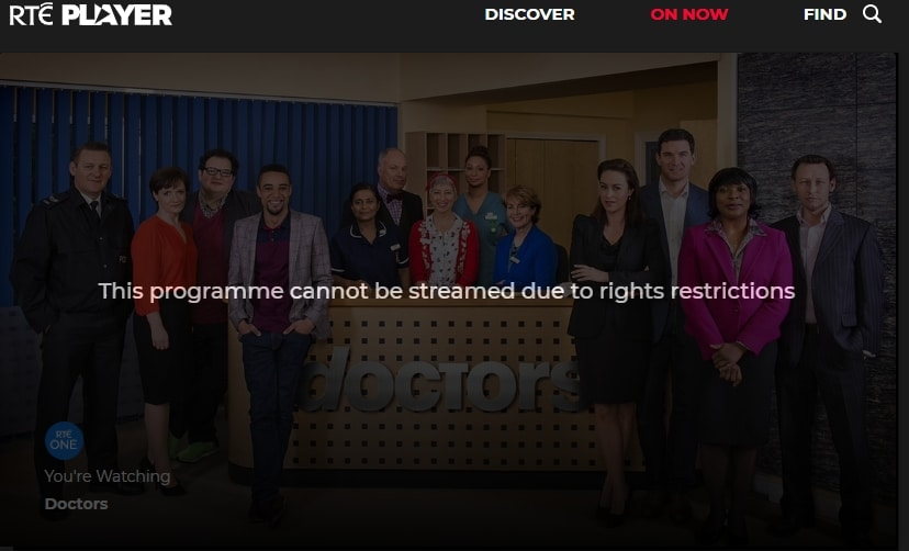 RTE Location Error How to Watch Abroad
