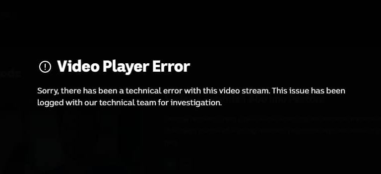 Video Player Error on ABC iView