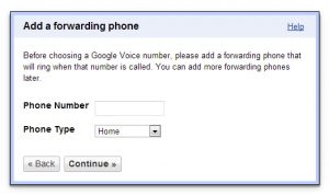 Add a forwarding phone Google Voice