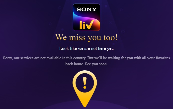 sonyliv outside india geo restrictions
