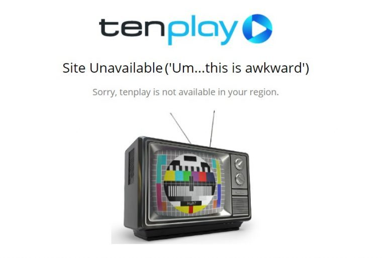 Sorry, tenplay is not available in your region